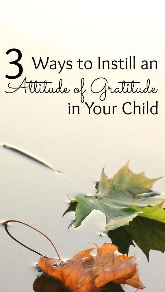Instilling an Attitude of Gratitude in Your Children