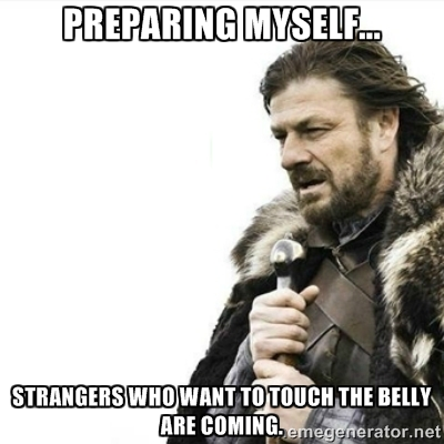 Brace Your Yourself meme Touching Pregnant Belly meme