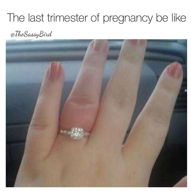 Swollen fingers in pregnancy humor
