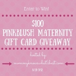 PinkBlush Maternity $100 Gift Card Giveaway