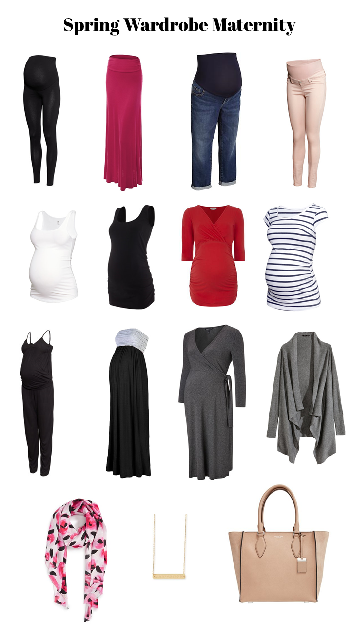 How to Create a Simple Spring Maternity Wardrobe