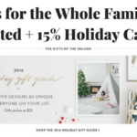 Gifts for the Whole Family at Minted + 15% Holiday Cards