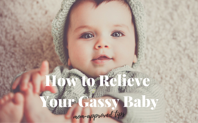 Mom approved tips to relieve a gassy baby.