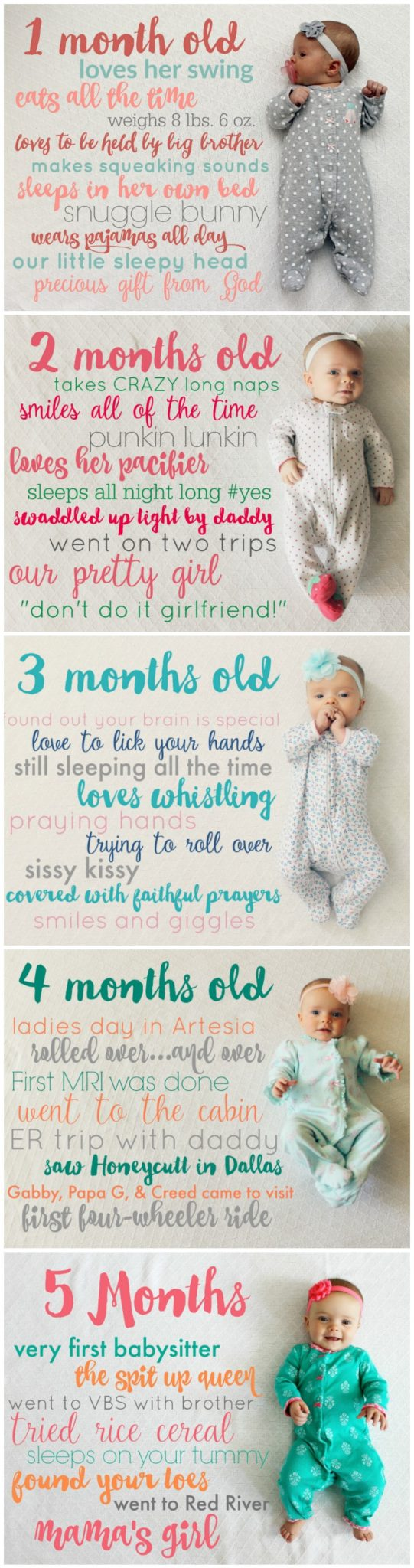 Baby Monthly Milestone Picture Ideas