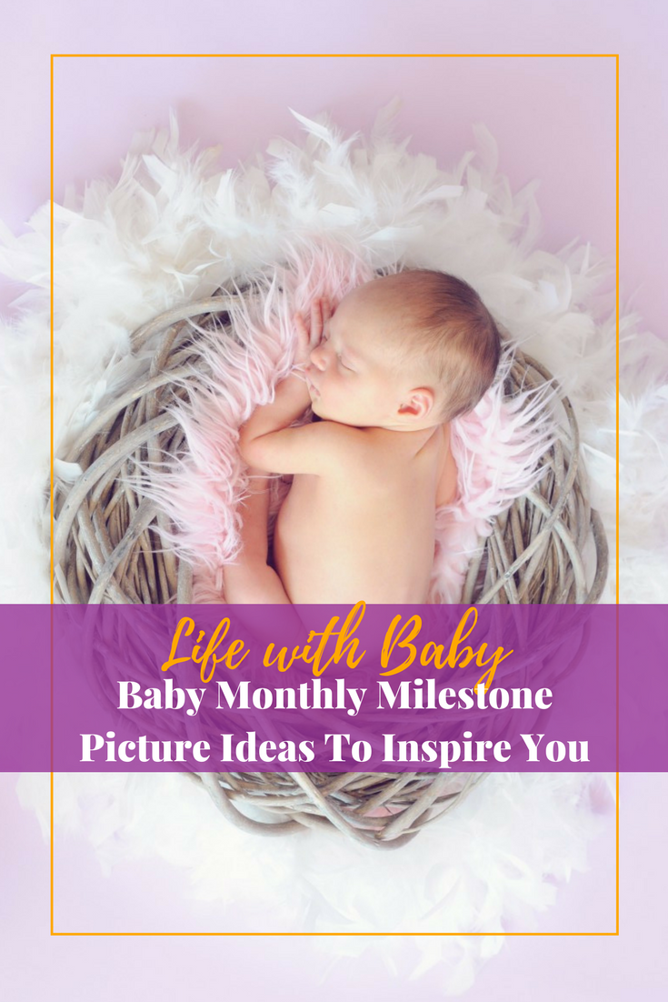 Baby Monthly Milestone Picture Ideas To Inspire You #monthlymilestones #babymilestones #babypictures #babyphotos #newborn #newbornphotography #babymonthylmilestone #babypictures