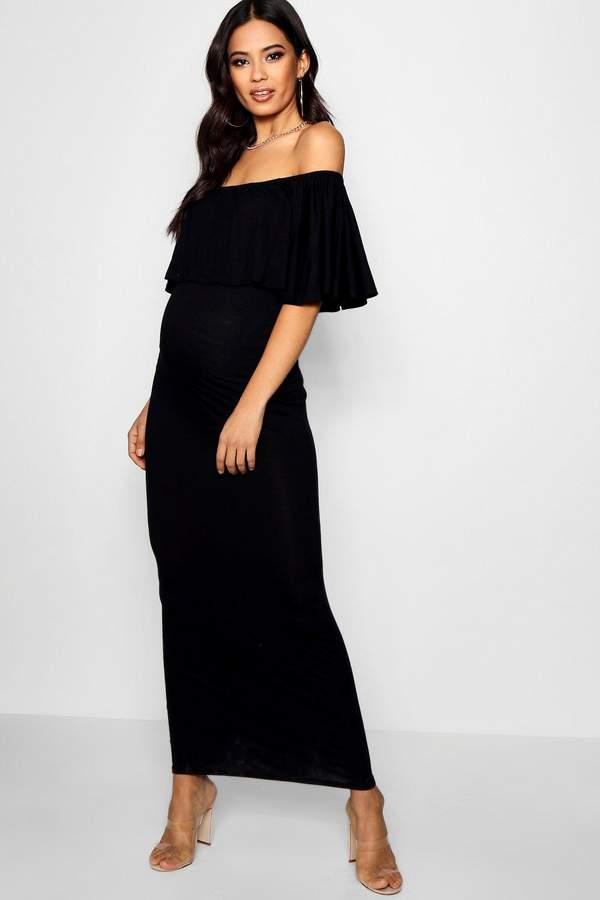 Boho Maternity Maxi Dress