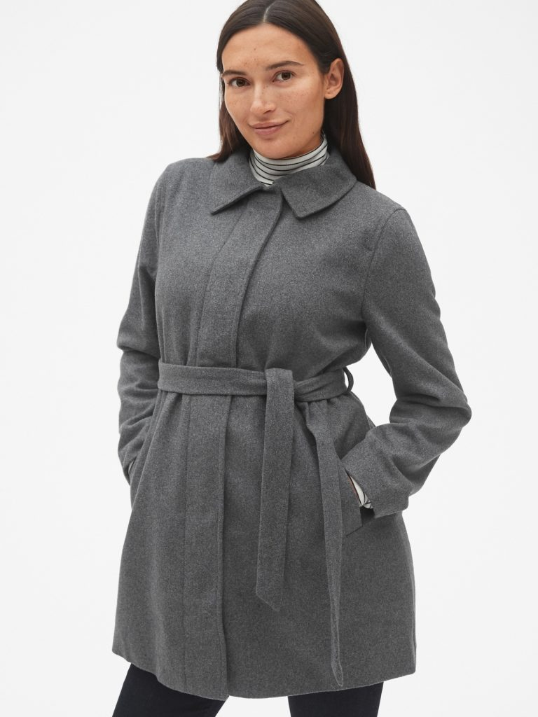 Wool Maternity Winter Coat
