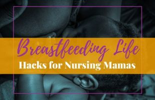 Black mom breastfeeding