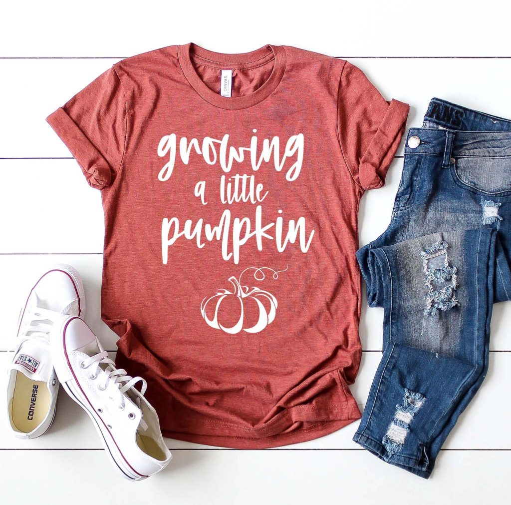 maternity pumpkin shirt